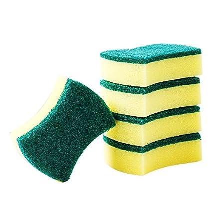 Yo yoyo Home Heavy Duty scrub Sponge, heavy duty catering spugne/spugnette per cucine, bagni e resistente pulizia, dimensioni: 10 Pack, 21.5*10.5*5.5cm guizixian Trade co. ltd