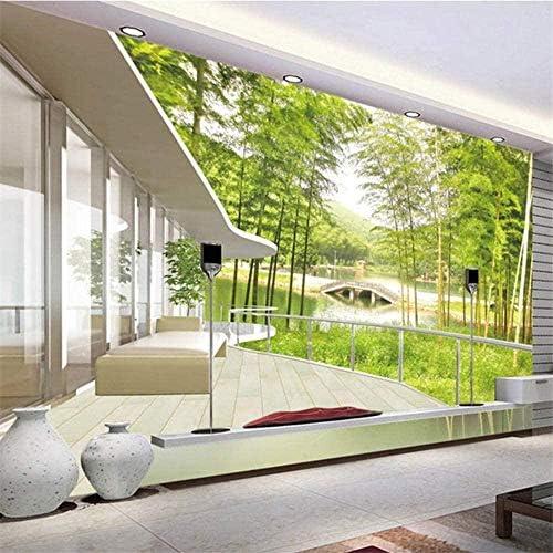 カスタム壁画壁紙3D竹林風景壁画家の装飾リビングルームのソファテレビ背景3D写真の壁紙-350x250cm