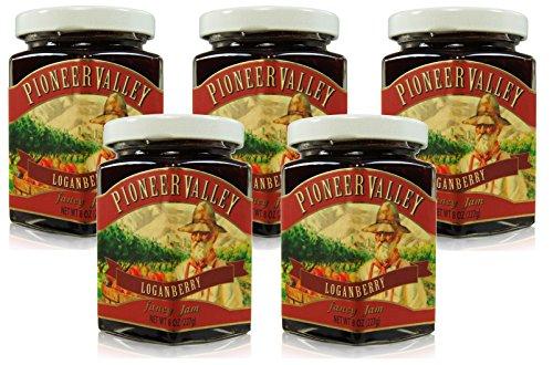 Pioneer Valley Gourmet Loganberry Jam 8 oz. - 5 pack by Pioneer Valley
