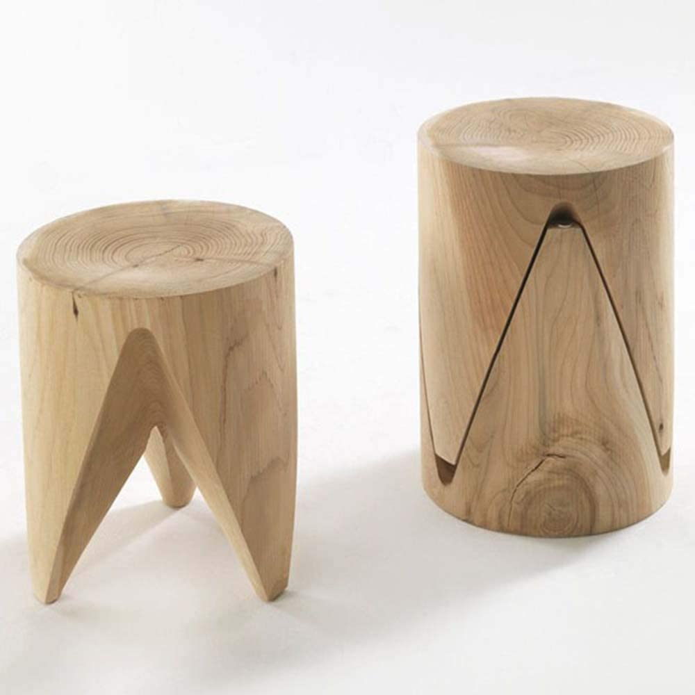 - Amazon.com: HRYHY Natural Log Pier, All Solid Wood Stool, Coffee