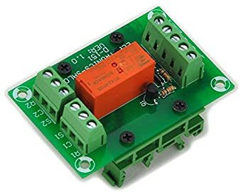 electronics salon bistable  latching dpdt 8 amp power relay module  dc5v coil  with din rail feet electronic latching relay circuit Bistable Latching Single Coil Relay