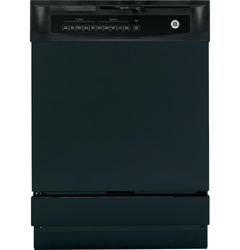 GE GIDDS-632122 Built-In 24'' Dishwasher With Front Controls, Black, 5 Cycles/5 Options