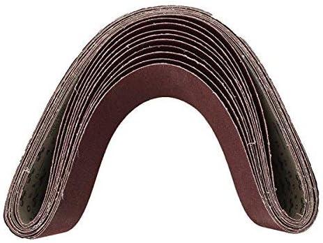 YONGTOKU 10pcs 15X122Cm 60 Grit abrasivo de al/úmina bandas abrasivas Tiras /óxido abrasivos cintas abrasivas