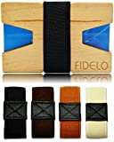 Slim Wood Front Pocket Mens Wallet Money & Card Holder - Minimalist & Small Wooden Wallets for Men with Bills Clip Bands