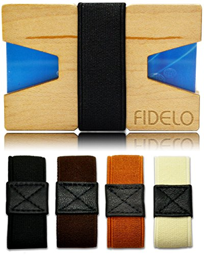 FIDELO Slim Wood Front Pocket Men's Wallet