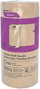 "Cascades PRO Select Kitchen Roll Paper Towel, 11"" x 8"", Nature 12 per Carton"