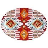 HiEnd Accents DI5002SP01 1 Piece Southwest Melamine Serving Platter, 20''