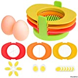 LiPing Stainless Steel Egg Slicers Cutter 3 in 1 Fixed Base Hard Boiled Egg Slicer (Multicolor)
