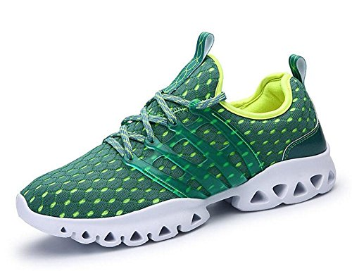 SHIXR Hommes Printemps Couple Casual Sports Hommes Chaussures Mode Respirant Mesh Tissu Pieds Souliers Casual Chaussures de course Chaussures de basket-ball , green , 41