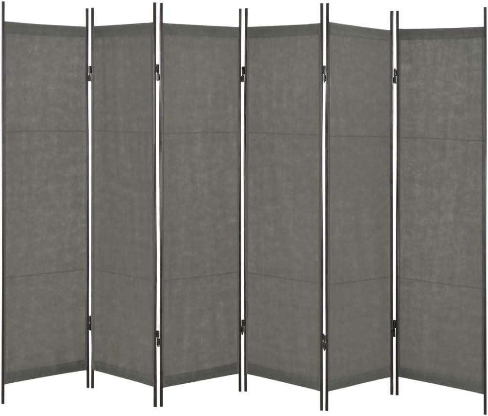 Tidyard - Biombo Plegable de 5 Paneles | Separador | biombo de Interior Blanco 250 x 180 cm, Anthtracite, 6 panneaux_300 x 180 cm: Amazon.es: Hogar