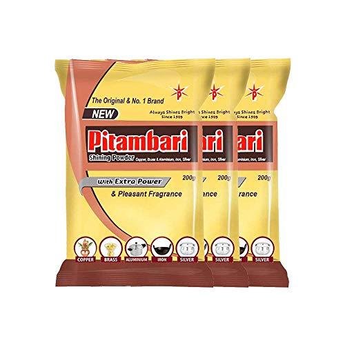 Pitambari Shining Powder - 200g (Pack of 3) (200g Powder)
