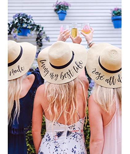 - Custom Saying, Floppy Beach Hat