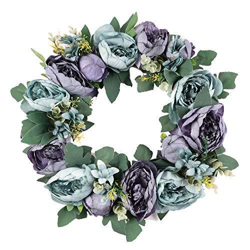Homcomoda Artificial Floral Peony Wreath 18