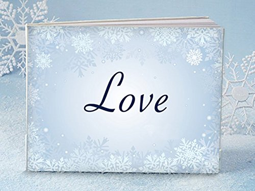 Winter love wedding reception guest book - 1 - Snowflake Guest Book