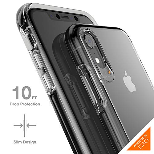 Gear4 33192 Crystal Palace Case Advanced Impact Protection [ Approved D3O ], Slim, Tough Design iPhone XR -, Crystal Palace, Clear