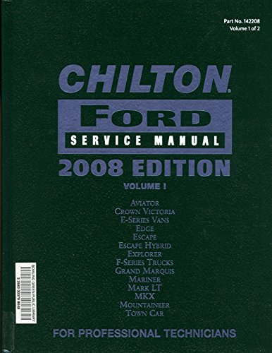Chilton Ford Service Manual, Vol. 1