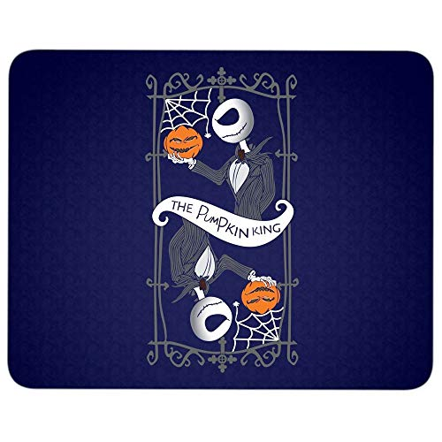 The Pumkin King Halloween Mouse Pad for Typist Office, Cool Jack Skellington Quality Comfortable Mouse Pad (Mouse Pad - Navy) ()