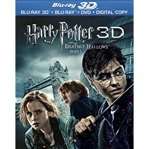 Harry Potter and the Deathly Hallows, Part 1 3D (Blu-ray 3D Combo Pack with Blu-ray 3D, Blu-ray, DVD & Digital Copy) [Blu-ray 3D] (2010)