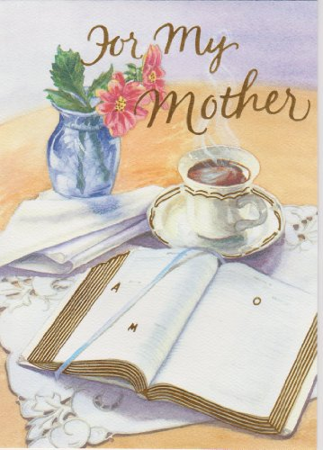 Mother's Day Deluxe Religious Greeting Card with Mom's Prayer HC Includes Envelope & Free Cross Bookmark 2nd Design