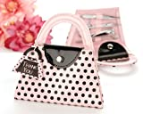 Pink Polka Purse' Manicure Set - Baby Shower Gifts & Wedding Favors (Set of 24)