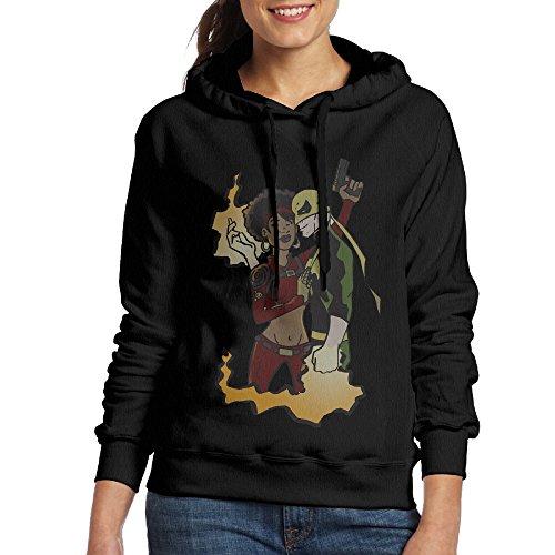 [FUOALF Women's Pullover Iron Fist Misty Knight Hooded Sweatshirt Black M] (Dark Souls Black Knight Costume)