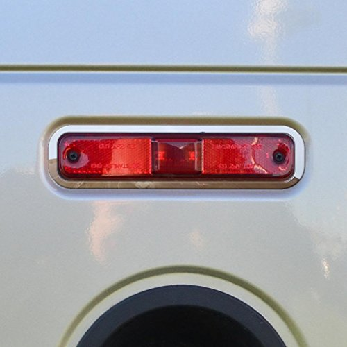 Polished Stainless Running Light Trim fits: 2003-2009 Hummer H2 All Models - Ferreus Industries - OTH-100-07-a (Hummer H2 Parts)