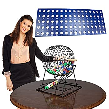 Image of Bingo Sets Royal Bingo Supplies Professional Bingo Set with 19' Cage, 1.5' Balls and Heavy Wood Master Board