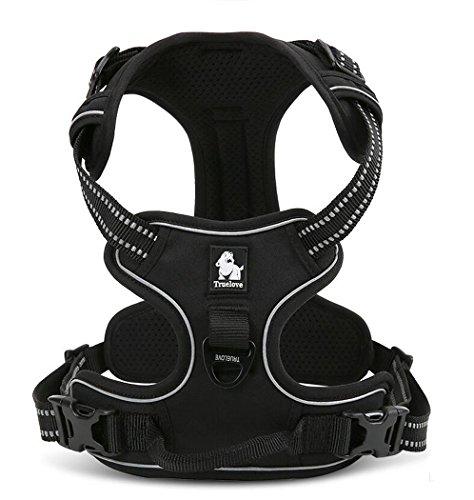 ocsoso® Vest verstellbar fluoreszierende Pet Hunde Harness mit gepolsterten 3m Sicherheit Reflektierende Nacht Streifen, PET Halt Geschirr für große/medium/kleine Hunde