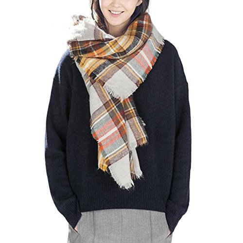 Aukmla Tartan Scarves Wrap and Shawl for Women and Girls (Color 4) for sale