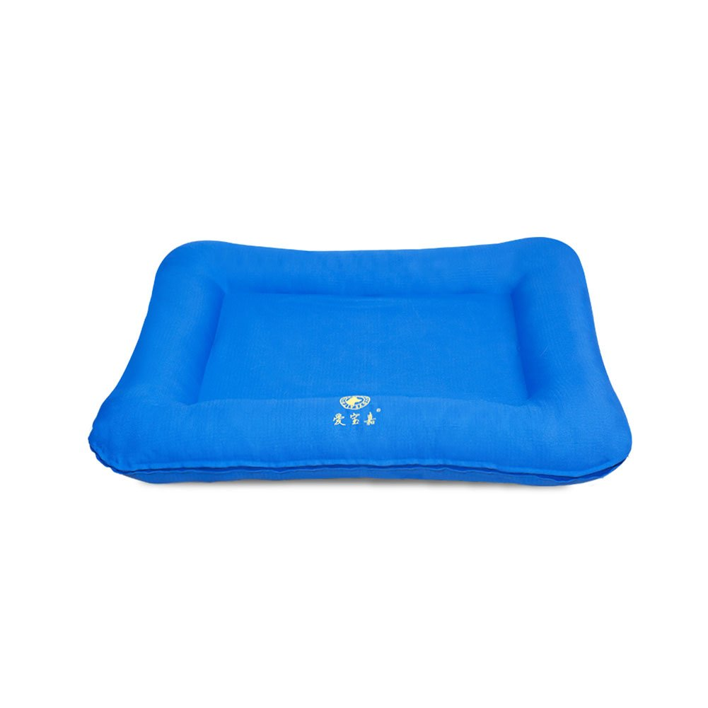 bluee L(856510cm) bluee L(856510cm) WYYY Kennel Four Seasons Dog House Removable Non-stick Hair Pet Supplies Cozy Breathable Easy To Clean Indoor Large Dog (color   bluee, Size   L(85  65  10cm))