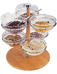 Swivelling Etagere Beech Wood With 6 Bowls 23 Cm And Folding Lids