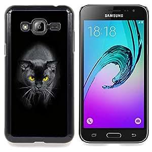 Planetar ( Negro del gato siamés amarillo Ojos Panther ) Samsung Galaxy J3(2016) J320F J320P J320M J320Y Fundas Cover Cubre Hard Case Cover