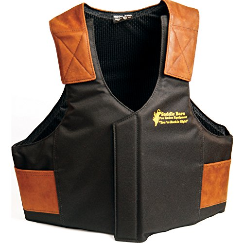 Saddle Barn Tack Cordura Protective Vest Black/Orange Saddle Bronc Riding Equipment