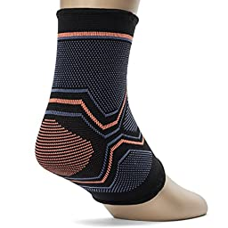 Kunto Fitness Ankle Brace Compression Support Sleeve for Athletics, Injury Recovery, Joint Pain, and More! (Medium)
