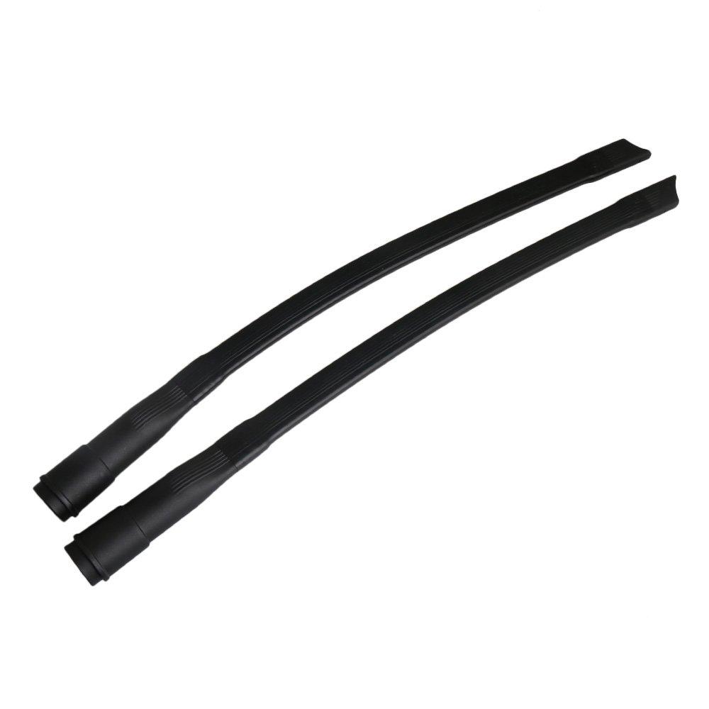 Yibuy 2 piezas flexibles para aspiradora Crevice Herramienta de extensi/ón curvas de repuesto