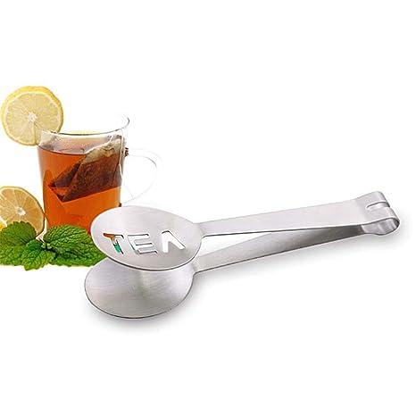 Amazon.com: Pinzas de acero inoxidable para bolsa de té ...