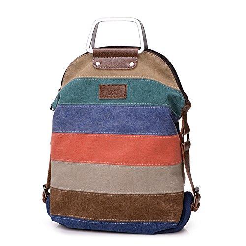 borsa borsa tela altri a di a singola messaggero B borsa borsa di colori doppia tracolla retrò pacchetto A a strisce tracolla pacchetto pacchetti 6nxfqpw