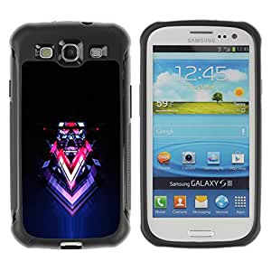 CAZZ Rugged Armor Slim Protection Case Cover Shell // Abstract Sci Fi Neon Art // Samsung Galaxy S3