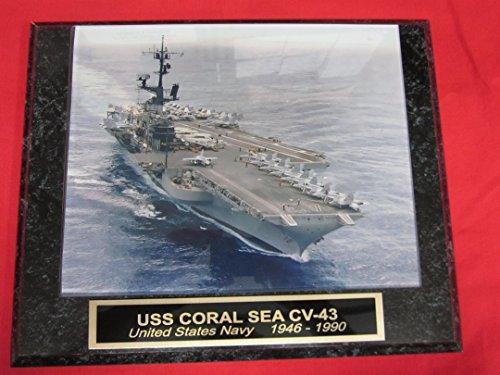 US Navy USS CORAL SEA CV-43 Collector Plaque w/8x10 Photo! (Coral Collection)