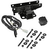 "Rugged Ridge 11580.52 2"" Receiver Hitch Kit with Jeep Plug"