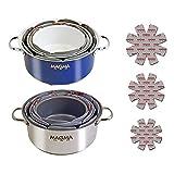 Magma Products No-Skid 3 Piece Pot Protectors Set, Grey