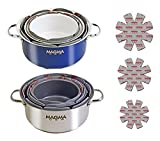 Magma Products, A10-368 No-Skid 3-Piece Pot Protectors Set, Grey