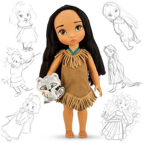 Disney Princess Animators' Collection Toddler Doll 16'' H - Pocahontas with Plush Friend Meeko (List Of Disney Princess)