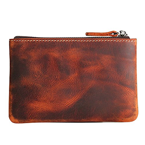 Leather Wallet for Men Fmeida Coin Purse Pouch Change Holder Card Case for Women (Chocolate) (Change Purse Holder Card)