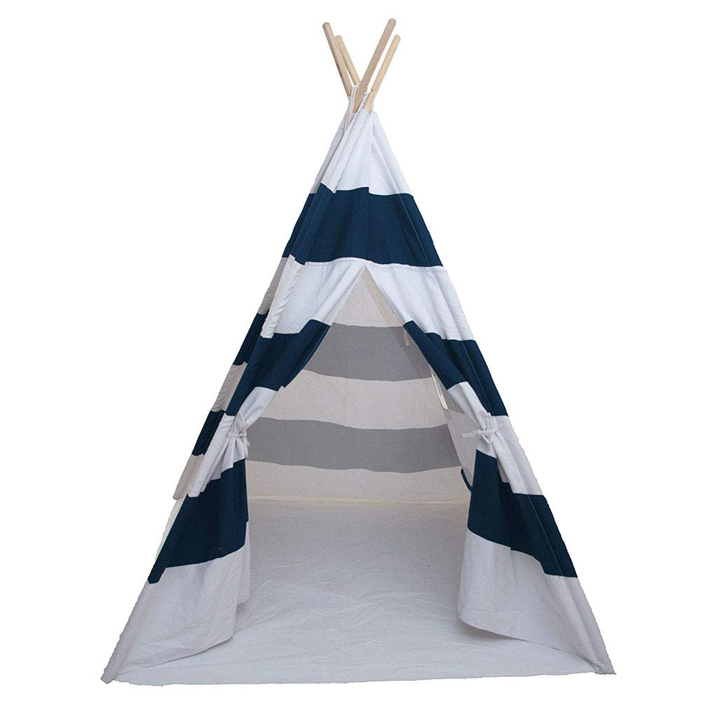 Lovinland Portable Kids Play Tent Children Teepee Tent Small Play House Dome 120 x 120 x 150 cm (Blue) by Lovinland (Image #1)