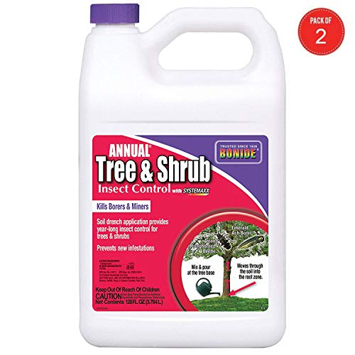 (Bonide 611 Annual Tree and Shrub Insect Control, 128 Fl oz(1 Gallon) (Pack of 2))
