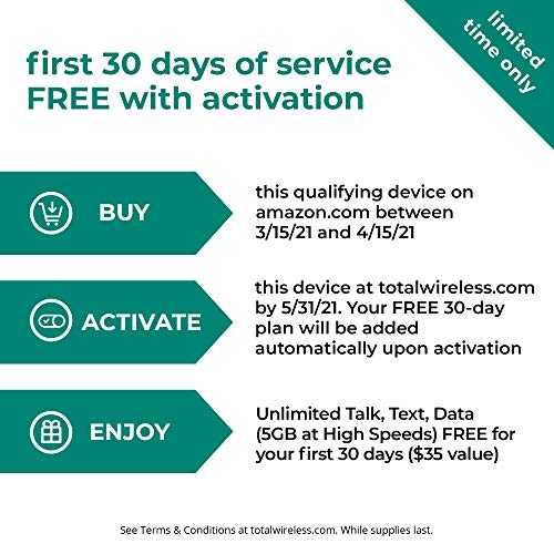 (Free $35 Airtime Activation Promotion) Total Wireless Samsung Galaxy A01 4G LTE Prepaid Smartphone - Black - 16GB - Sim Card Included -CDMA