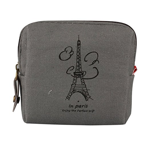 Mini Retro Lady Purse Wallet Card Holders Clutch Handbag (Gray) (New Ladies Mini)