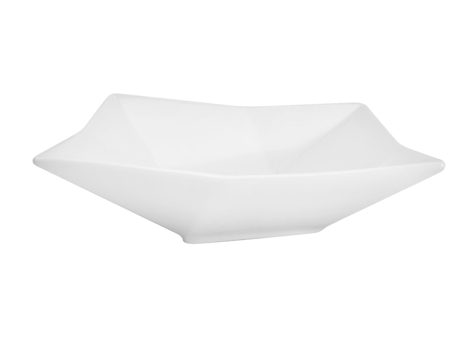 CAC China QZT-B6 Crystal 6-Inch by 6-1/2-Inch by 2-1/2-Inch Super White Porcelain Square Bowl, 10-Ounce, Box of 36