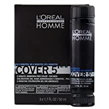 Loreal Homme Cover 5 - Ammonia Free 5-minute Color for Men (6 Light Brown) by L'Oreal Paris